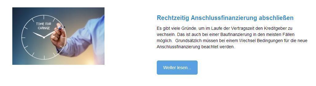 Anschlussfinanzierungen für  Einbeck