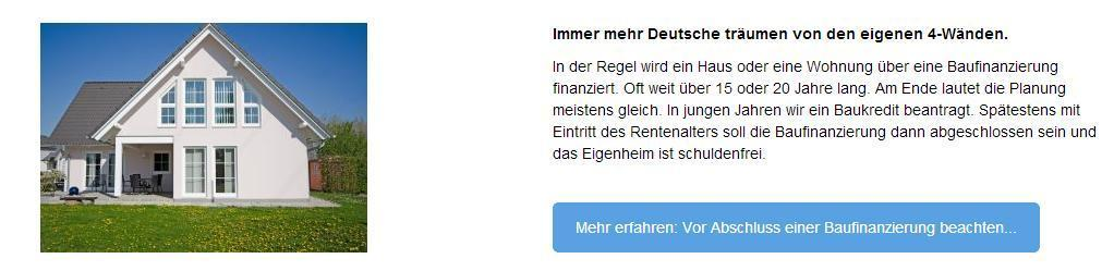 Baufinanzierung günstig abschliessen in  Vaihingen (Enz)