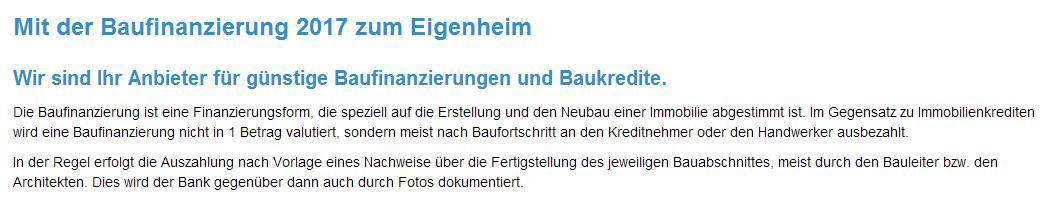 Günstige Baufinanzierungen aus 56584 Meinborn